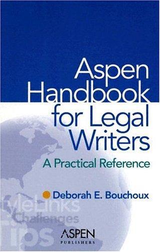 The Aspen handbook for legal writers